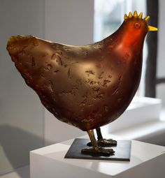 "Ivana Sramkova The Hen, 2015 14 x 15.75 x 7"" Cast glass Available"