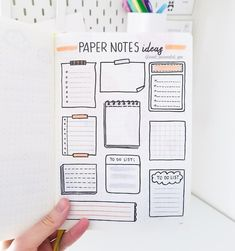 Hi friends! 🙆 Here's more paper note ideas. I am trying to fill out those emp. - Hi friends! 🙆 Here's more paper note ideas. I am trying to fill out those empty pages in my Le - Bullet Journal School, Bullet Journal Titles, Bullet Journal Banner, Journal Fonts, Bullet Journal Notebook, Bullet Journal Aesthetic, Bullet Journal Spread, Bullet Journal Inspiration, Journal Ideas