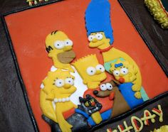 Simpsons Plaque by Meghan's Cakes (on a cake break!), via Flickr