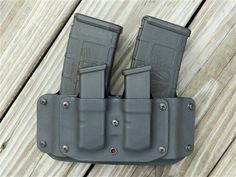 Kydex pmag and glock magazine holsters Tactical Holster, Tactical Gear, Airsoft, Battle Belt, Police Gear, Custom Holsters, Duty Gear, Tac Gear, Kydex Sheath