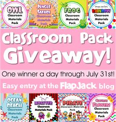 FlapJack Educational Resources: FlapJack Classroom Materials Pack Giveaway