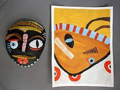 Mask / mixed media