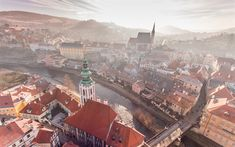 Download wallpapers Czech-Krumlov, old town, Krumlov Castle, tourism, Czech Republic