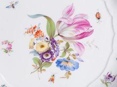 Flower Porcelain Plate, Neubrandenstein Decor, Meissen,19th C | Auctionata