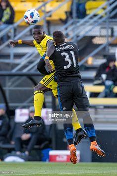 a533226ac2a Columbus Crew defender Jonathan Mensah (4) heads the ball in the MLS  regular season