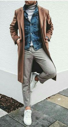 Smart Casual Dresscode Smart Casual Dresscode Beispiel 5 The post Smart Casual Dress Code & Herbst/Winter appeared first on Mens Style . Korean Fashion Men, Fashion Mode, Look Fashion, Fashion Photo, Fall Fashion, Fashion Ideas, Casual Look For Men, Casual Looks, Men Casual