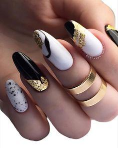 Cute Nail Art Designs, Creative Nail Designs, Creative Nails, Acrylic Nail Designs, Perfect Nails, Gorgeous Nails, Hot Nails, Hair And Nails, Nail Design Stiletto