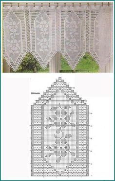Home decoration: Crochet curtains When we think of … – Curtain Ideas Tulle Curtains, Crochet Curtains, Home Curtains, Tapestry Crochet, Kitchen Curtains, Filet Crochet, Crochet Lace, Mittens, Burlap
