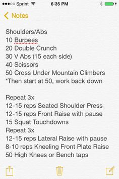 Shoulder/Ab Circuit