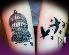 Bird Cage Tattoo by greyfoxdie85