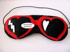 Lolita heart glasses Sleep Mask Pattern DIY . PDF Felt Pattern Personal Use