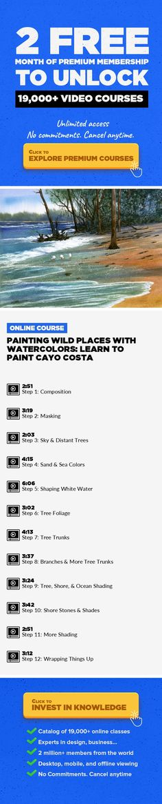 "Painting Wild Places with Watercolors: Learn to Paint Cayo Costa Design, Art, Watercolors, Painting, Watercolor, Creative, Watercolor Painting #onlinecourses #makemoneyonlinebusiness #writingskills    Forged from the creation of his 111 Public Television ""How to Paint"" episodes, Gary has perfected his popular step-by-step teaching method for watercolor . Rather than progress from an ""easy"" paintin..."