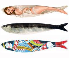 MT_sardinhas_bpinheiro Fish Art, Great Words, Lisbon, Portuguese, Popular, Street Art, Saints, Printmaking, Rocks