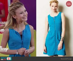 Avery's blue textured zip-front dress on Dog with a Blog.  Outfit Details: http://wornontv.net/46553/ #DogwithaBlog