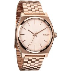 The Rose Gold Time Teller boasts a simple and classic design with Japanese movement all on a stainless steel case and band. One of Nixon's most popular watches the Time Teller in Rose Gold takes this no nonsense watch to a new level of durability and styl