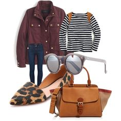 It's all about the bag and the shades! by highmountainviewoma on Polyvore featuring polyvore, fashion, style, J.Crew, Frame Denim, Madewell, Burberry and Illesteva