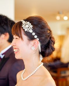 THE TENDER HOUSE(ザ テンダーハウス) にてご結婚式をされます素敵な花嫁様♪ リボンカチューシャが本当にオシャレ♪