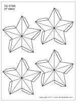 4-inch 3D star template