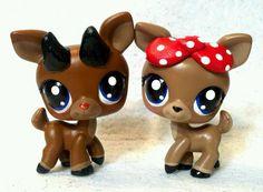 Rudolph and Clarice Deer Lot * OOAK Custom Littlest Pet Shop