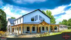 Metal Barn House Plans, Metal Building House Plans, Steel Building Homes, Building Ideas, Diy Home Furniture, Architectural Design House Plans, Pole Barn Homes, Custom Home Designs, Metal Buildings