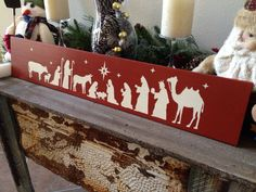 Wooden Nativity Sign Art Wall Decor Christmas Holiday Decoration Custom Special Offer Sale Coupon Free Shipping on Etsy, $30.00