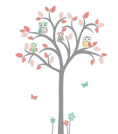 Owl tree decal Owl tree wall sticker Owl by StickItDecalDesigns, $69.00
