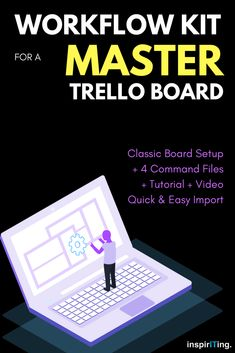 With this Workflow Kit, for instance! It contains four different files with pre-written and tested command codes to build classic Trello boards – with 3 lists: 'To Do', 'Doing', 'Done'. Business Tips, Online Business, Business Quotes, Creative Business, Content Marketing, Internet Marketing, Bujo, Technology Management, Calendar Board
