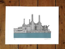 Battersea Power Station, pastel blue - Limited Edition Print