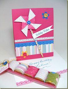 cute pinwheel card