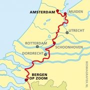Hiking Routes, Hiking Trails, Old Maps, Travel Maps, Toys For Boys, Long Distance, Day Trips, Netherlands, Holland