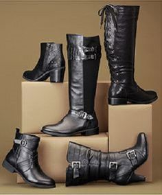 five great pairs of black leather boots!