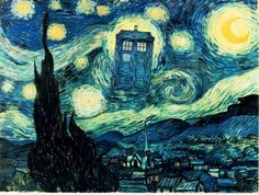 For Dr. Who fans everywhere, especially Riley Jo Wallace!! ;Art By Van Gogh Owls   Vincent Willem van Gogh 30 March 1853 – 29 July 1890) was a Dutch ...
