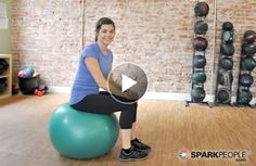 Today's Video: Intro to the Stability Ball core stability back pain Stability Ball Exercises, Core Stability, Better Posture, Spark People, Improve Posture, I Work Out, Excercise, Exercise Ball, Get In Shape