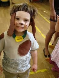 diy dog costume for kids - Ears on a head band and face paint