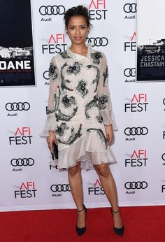 Gugu Mbatha-Raw wore an #Erdem Resort 2017 embroidered dress and #Casadei shoes to the #AFIFEST premiere of #MissSloane. The Fashion Court (@TheFashionCourt) | Twitter