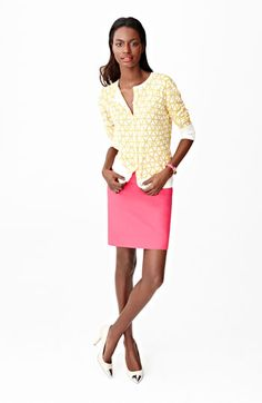 Spring's cardi + pencil skirt duo