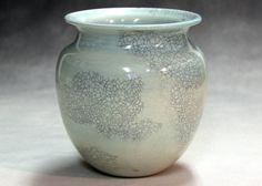 Porcelain ceramic pottery vase ceramic vase  blue green