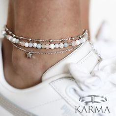 New KARMA's anklets <3 #anklebracelet #karmajewelrystore #enkelbandjes Emerald Diamond, Diamond Jewelry, Jewelry Necklaces, Fine Jewelry, Chain, Diamond Jewellery, Jewelry