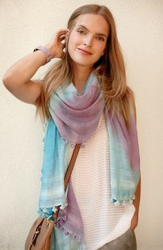 Striped Ombré Scarves•••Add Sinchi™  ••• Be Chic ••• www.SinchiScarfClip.com