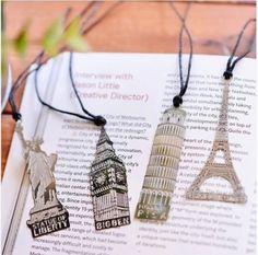 Metal bookmarks - Paris, London, NYC, Pisa Italy-souvenir-Wedding-Gift