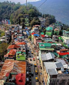 Gangtok. Sikkim india A rope view.