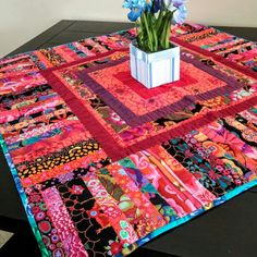 CITY BLOCK Small Tablecloth by LittleWheelerQuilts on Etsy