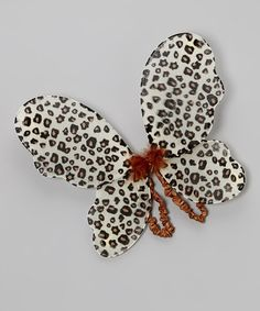Take a look at this Tan Cheetah Fairy Wings by TutusByUs2 on #zulily today!
