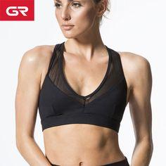 670268bfd1 High Quality Breathable Nylon Spandex Custom Made Women Mesh Sports Bra Top