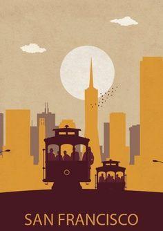 San Francisco. California #vintagetravelposters