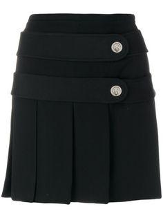 Versus pleated button tab mini skirt