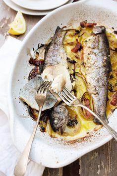 // Sumac, marjoram, lemon trout