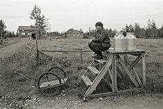 1977 - Waiting for the milk truck - Finland