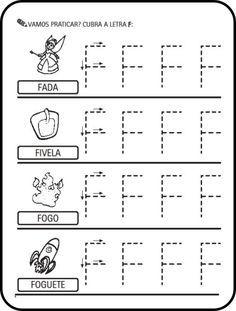 Alfabeto Ilustrado Letras Pontilhadas Para Cobrir Colorir