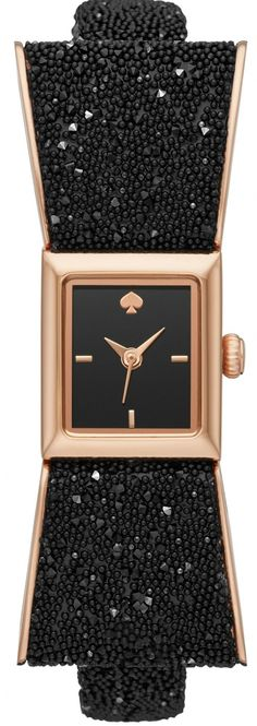Kate Spade Kenmare The perfect night out! Kate Spade Watch, Black Crystals, Gold Watch, Latest Fashion, Bracelet Watch, Women Jewelry, Watches, Bracelets, Gifts